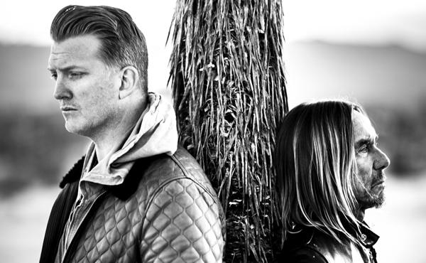 Foto von Josh Homme (links) und Iggy Pop