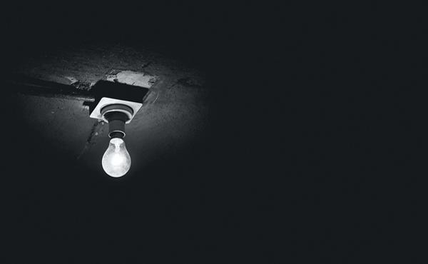 Stimmungsvolles Bild einer Glühbirne