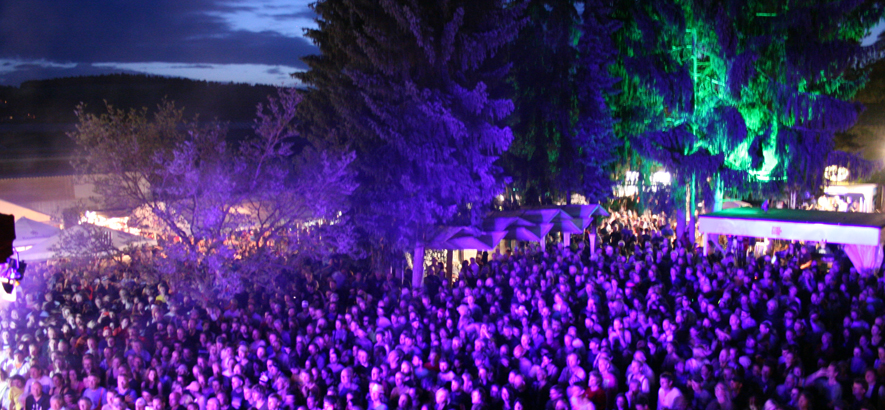 Foto vom Publikum beim Orange Blossom Special Festival