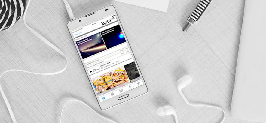 Foto der ByteFM App für iOs / I-Phone