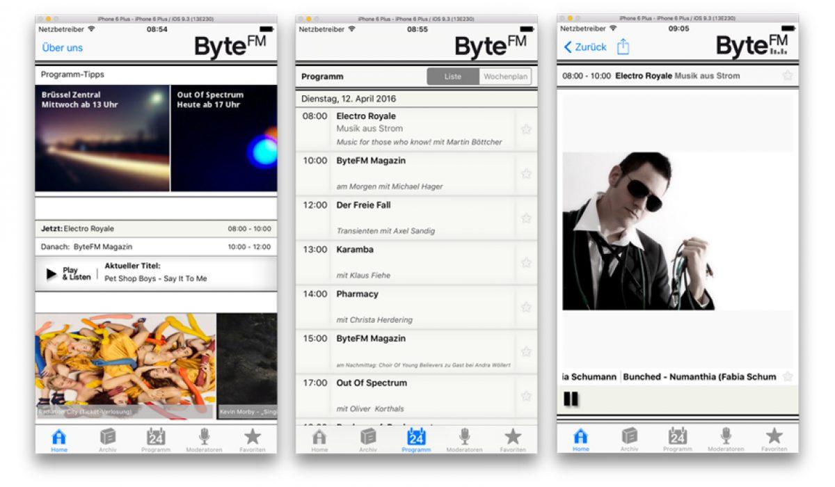 unsere kostenlosen apps f r android iphone bytefm blog. Black Bedroom Furniture Sets. Home Design Ideas
