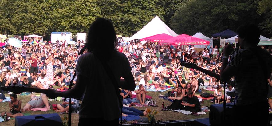 Foto vom Festivalgelände von Folk im Park