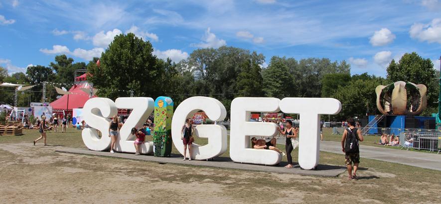 Foto von einem Teil des Festivalgeländes vom Sziget Festival
