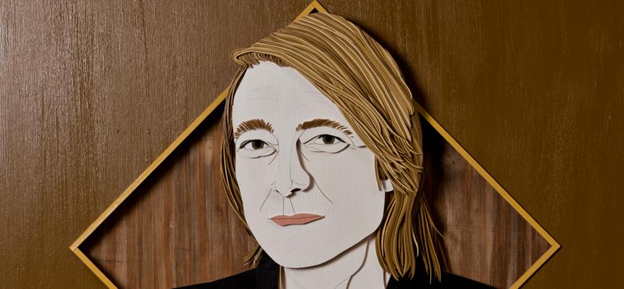 Holzschnitt von Jochen Distelmeyer, der auf der Vorderseite der September-Ausgabe vom ByteFM Konzertfolder zu sehen ist