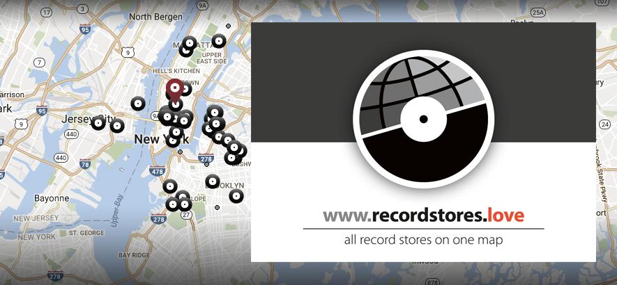 Das Logo von recordstores.love