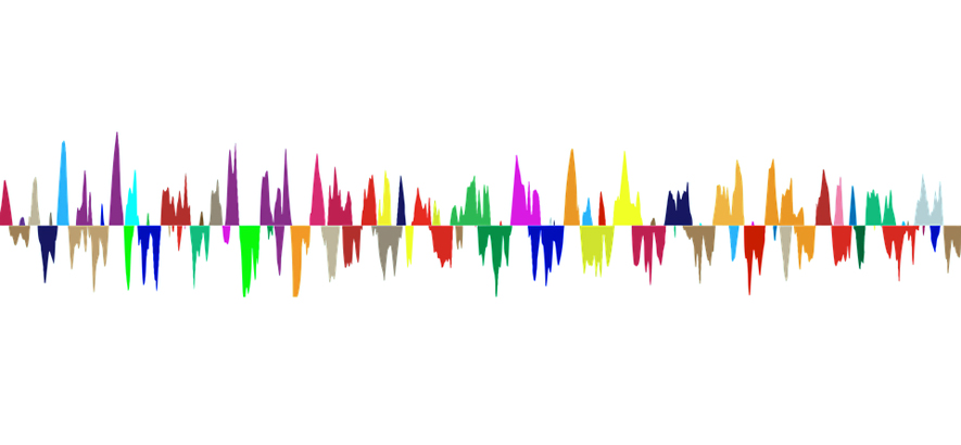 Stilisierte Abbildung einer Audio-Wellenform