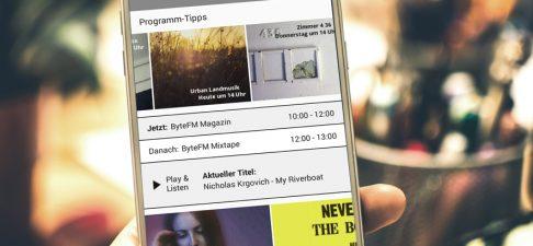 ByteFM App für Android: ByteFM jetzt auch offline hören