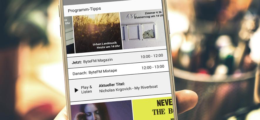 Foto von der ByteFM App