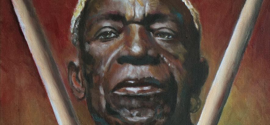 Bild des nigerianischen Schlagzeugers Tony Allen, Mitbegründer des Afrobeat, der im Alter von 79 Jahren gestorben ist