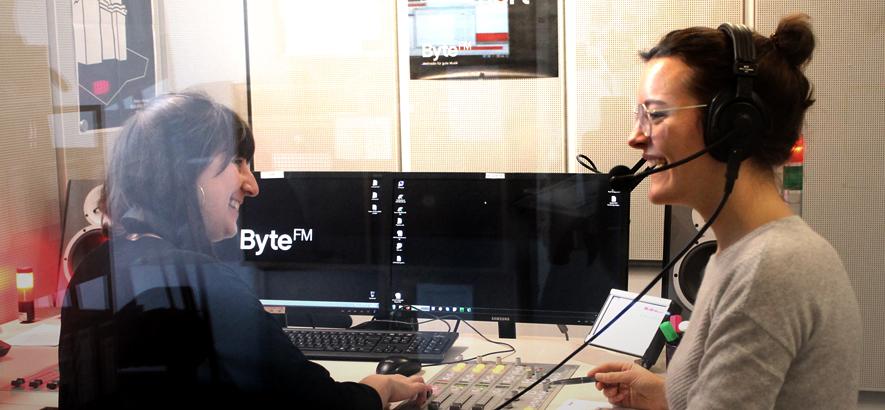 Foto aus dem ByteFM Studio