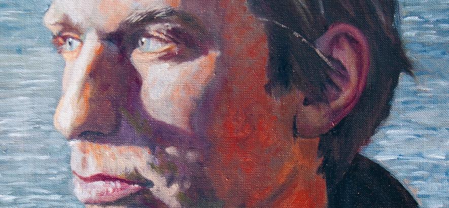 Jens Friebe gemalt von Helmut Kraus