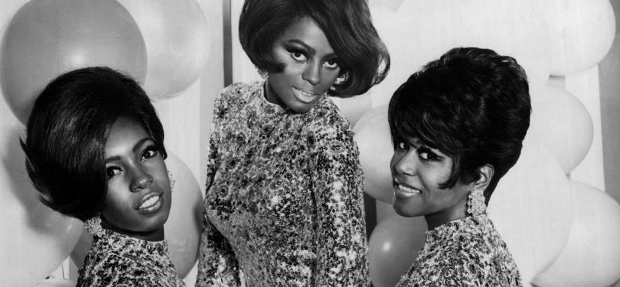 Diana Ross (Mitte) mit ihrer ersten Band The Supremes