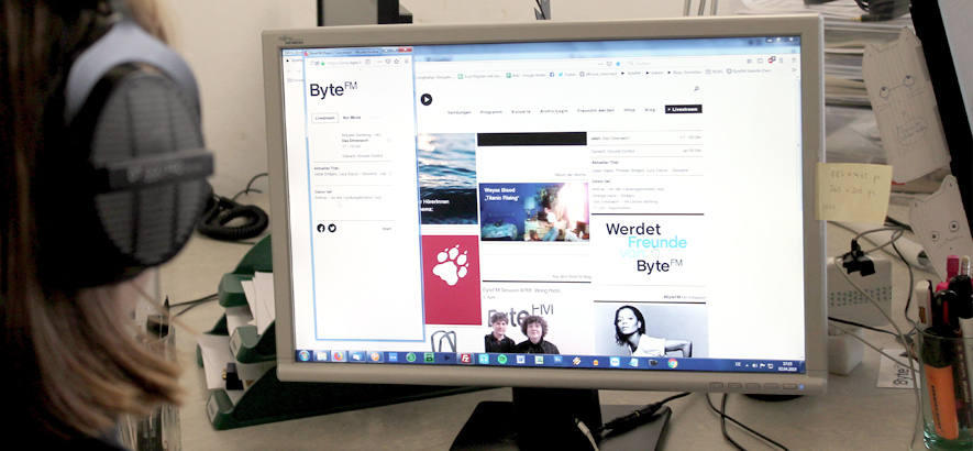 Foto der ByteFM-Website