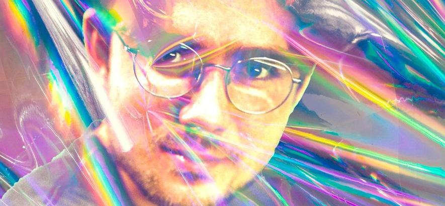 Psychedelisch verwaschenes Pressefoto von Jonathan Jarzyna alias John Moods