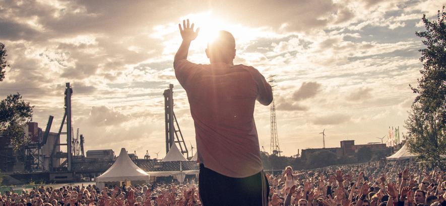 Foto vom Gelände des Spektrum Festivals in Hamburg