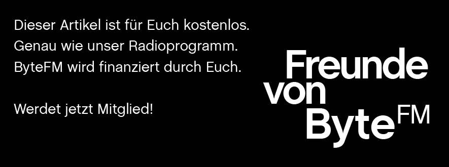 """Bild mit Text: Förderverein """"Freunde von ByteFM"""""""