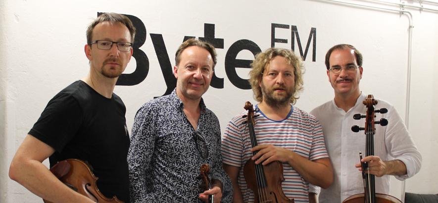 Foto des Kaiser Quartetts, das zu Gast war im ByteFM Magazin
