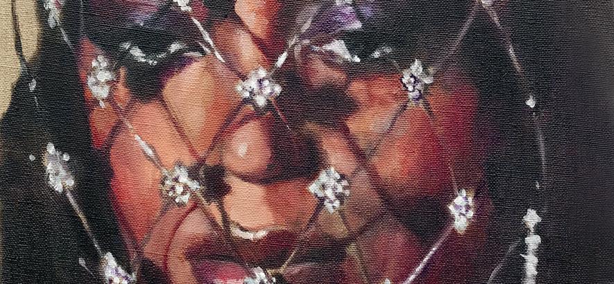 Solange, das Motiv des ByteFM Konzertfolders im August 2019, gemalt von Helmut Kraus