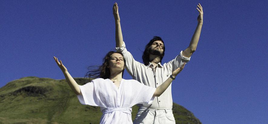 """Suzanne Rodden und Lewis Cook aus Glasgow. Als Free Love nahm das Duo den Acid-Track """"Bones"""" auf."""