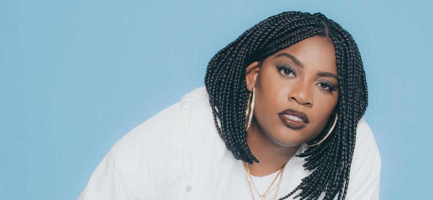 """Rapperin Kamaiyah Jamesha Johnson, deren Single """"Back To Basics"""" heute unser Track des Tages ist."""