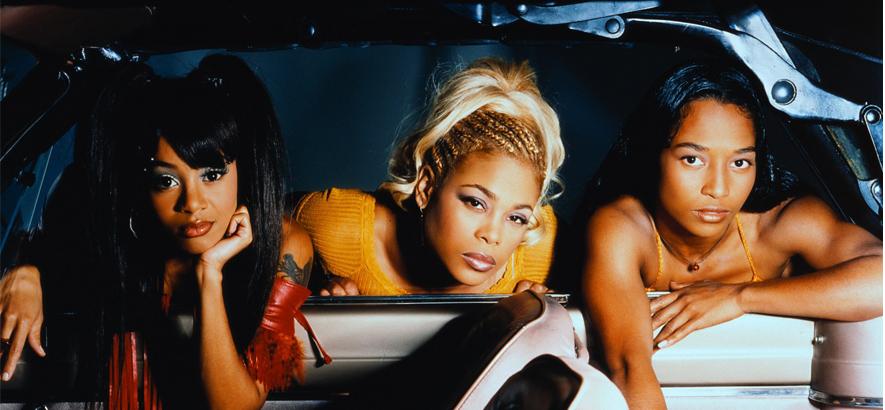 """Die Band TLC. Ihr erster Nummer-eins-Hit """"Creep"""" ist heute unser Track des Tages."""