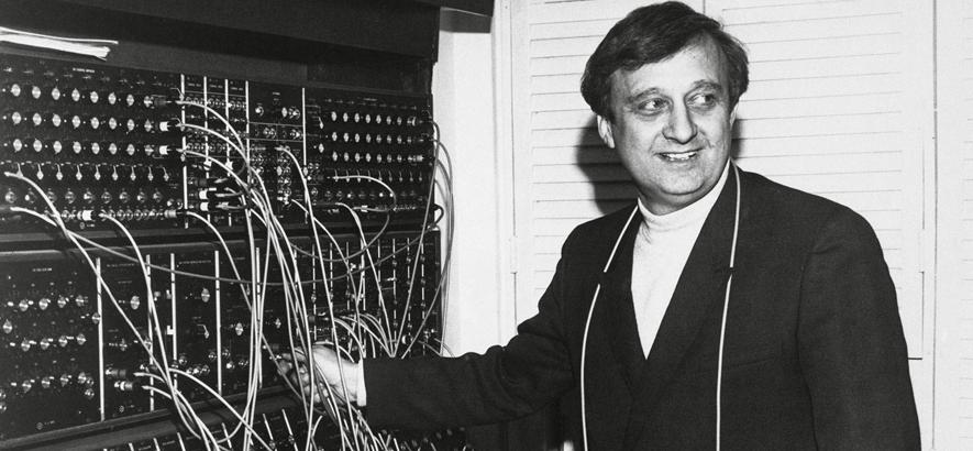 Bild des Synthesizer-Pioniers Gershon Kingsley , der am 10. Dezember 2019 gestorben ist-