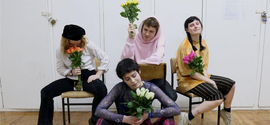 """Die Brightoner Gruppe Porridge Radio. Ihr Song """"Lilac"""" ist heute bei ByteFM der Track des Tages."""