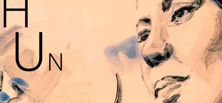 Illustration des Duos Hundreds, dem Motiv des ByteFM Konzertfolders im Januar 2020, angefertigt von Julia Fuchs