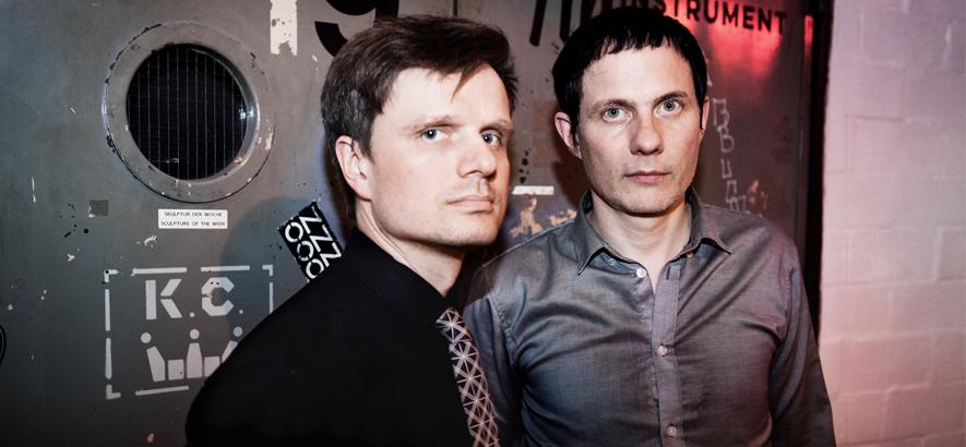 """Felix Kubin und Hubert Zemler, die als CEL ein No-Wave-Kraut-Funk-Album gemacht haben. Ihr Stück """"Elektrybałt"""" ist heute unser Track des Tages."""