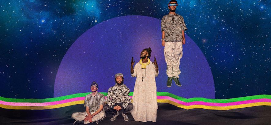 """Die Band Onipa, die auf ihrer Single """"We No Be Machine"""" proklamiert, keine Automaten sein zu wollen."""