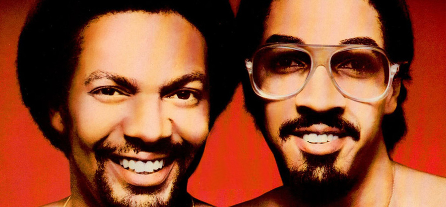 "The Brothers Johnson auf dem Cover der Compilation ""Stomp"". Ihr Song ""Strawberry Letter 23"" erschien 1977 auf Erdbeer-Vinyl."