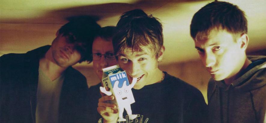 """Die britische Band Blur. Zum Weltmilchtag ist heute ihr Song """"Coffee & TV"""" unser Track des Tages."""