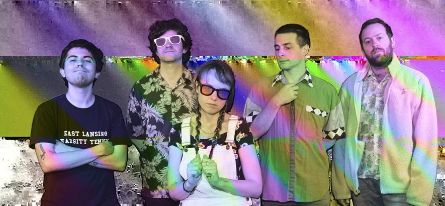 """Pressebild der Band Guerilla Toss, deren Sängerin Kassie Carlson in der Single """"Human Girl"""" mit Zeichen der Selbstermächtigung spielt."""