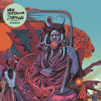 """Bild des Albumcovers """"Shaman!"""" von Idris Ackamoor & The Pyramids, das ByteFM Album der Woche ist."""