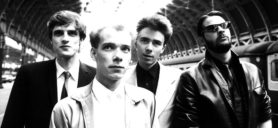 Die schottische Band Josef K, die Postpunk im Anzug spielte.