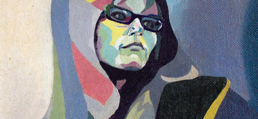 Gemälde der britischen Singer-Songwriterin Judy Dyble, Gründungsmitglied von Fairport Convention und Trader Horne, die im Alter von 71 Jahren an Lungenkrebs gestorben ist.