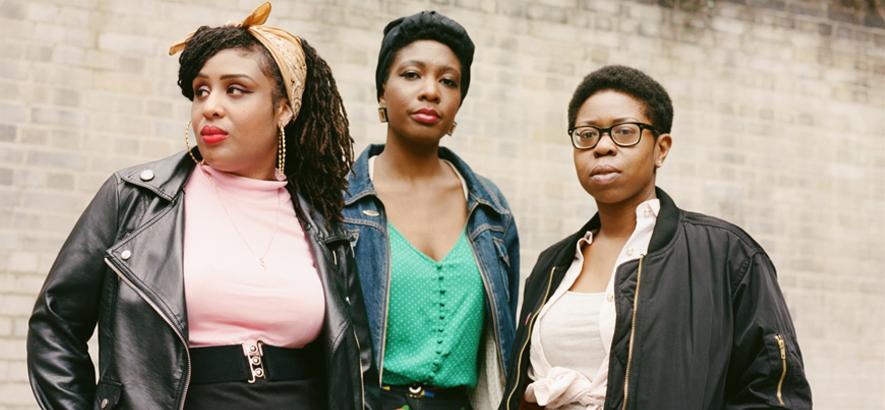 """Bild der Londoner Punk-Band Big Joanie, die eine Coverversion von Solanges """"Cranes In The Sky"""" veröffentlicht hat."""