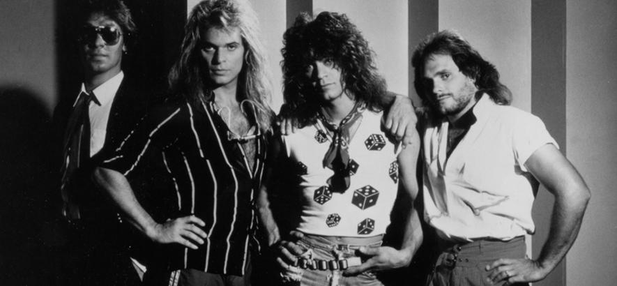 Pressefoto der Band Van Halen, deren Gitarrist Eddie Van Halen im Alter von 65 Jahren an einer Krebserkrankung gestorben ist.