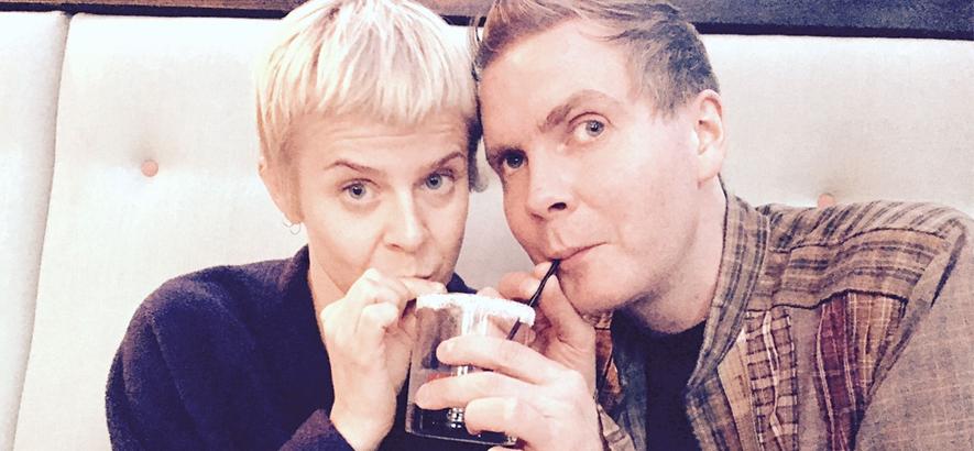"""Foto von Jónsi und Robyn, die mit """"Salt Licorice"""" eine gemeinsame Single veröffentlicht haben."""