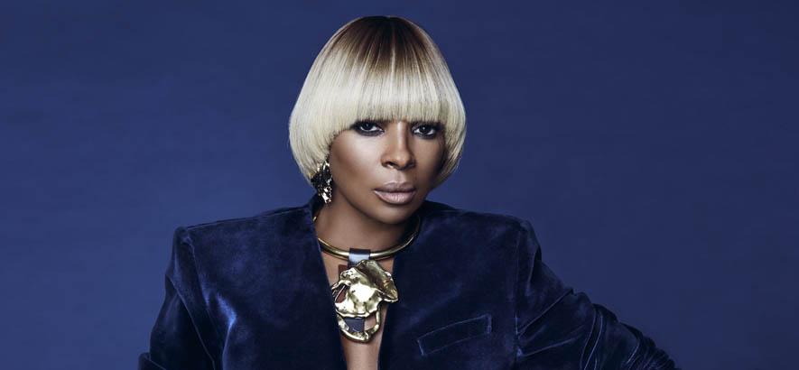 """Foto der US-amerikanischen R&B-Sängerin Mary J. Blige. Anlässlich ihres 50. Geburtstags ist ihre Single """"Real Love"""" heute unser Track des Tages."""