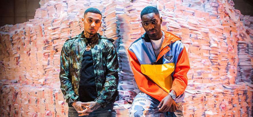 """Foto der Rapper Fredo und Dave, deren Stück """"Money Talks"""" heute unser Track des Tages ist."""