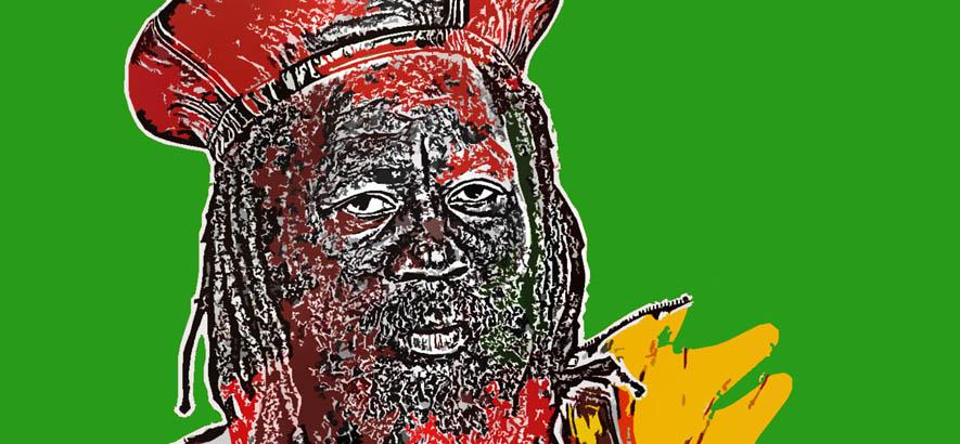 "Cover der Single ""Wake The Town"" des jamaikanischen Sängers U-Roy, unserem Track des Tages."