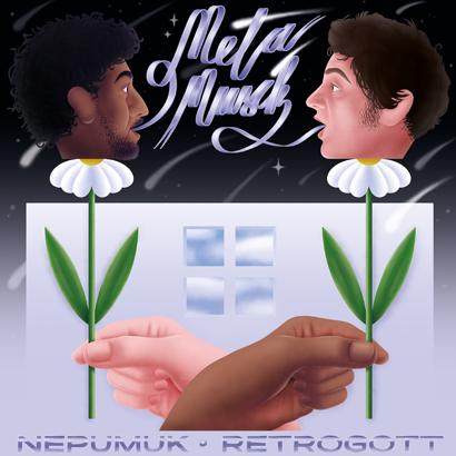 """Bild des Albumcovers von """"Metamusik"""" von Nepumuk & Retrogott, das unser ByteFM Album der Woche ist."""