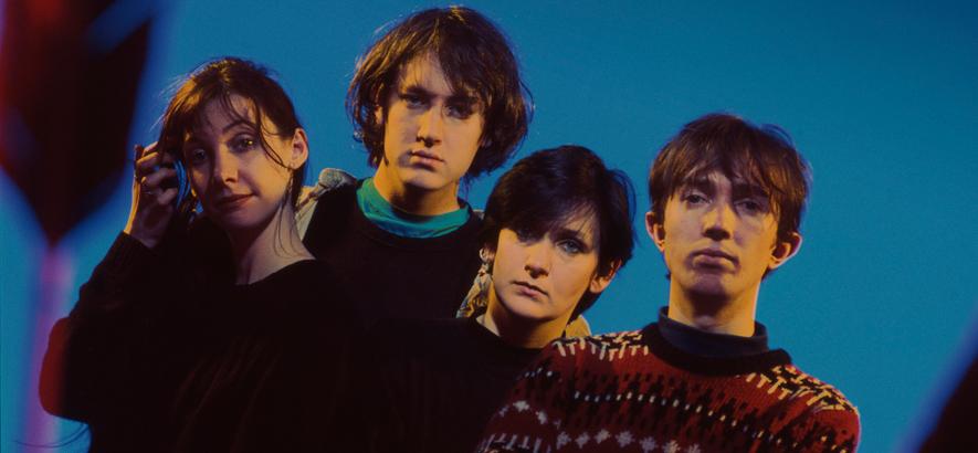Pressefoto der Shoegaze-Band My Bloody Valentine, die ihren gesamten Katalog neu veröffentlicht haben.