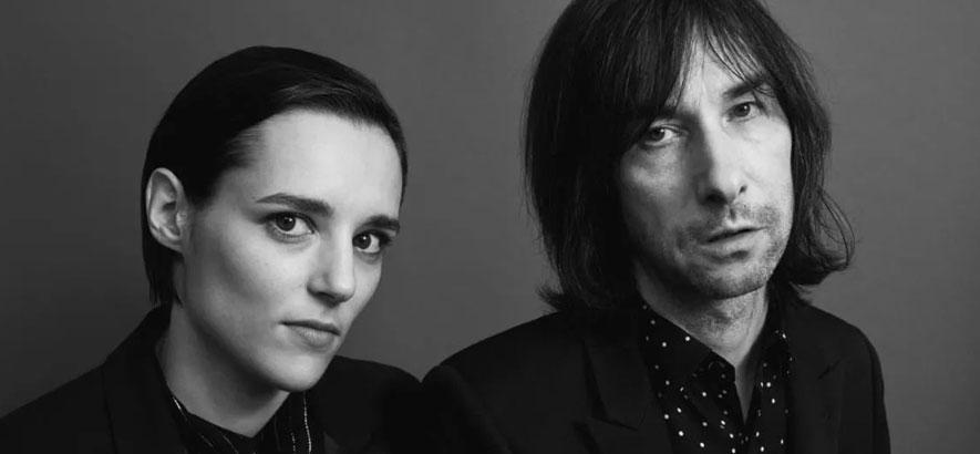 """Foto von Jehnny Beth und Bobby Gillespie, die ein gemeinsames Album namens """"Utopian Ashes"""" angekündigt haben."""