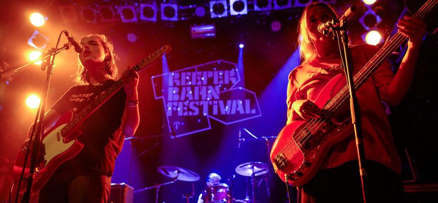 Bild der britischen Band Goat Girl beim auftritt auf dem Reeperbahn Festival 2018