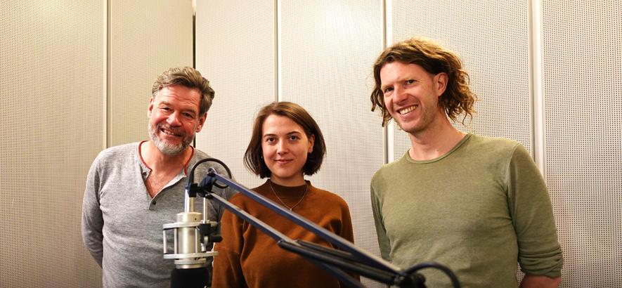 Foto von Alexander Schulz, Milena Kan und Ruben Jonas Schnell