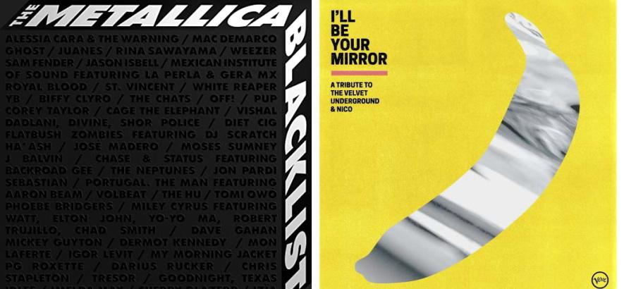 """Bilder der Tribut-LPs """"The Metallica Blacklist"""" und """"I"""