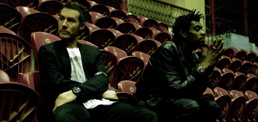 Pressebild der Band Massive Attack, die einen Bericht über die CO2-Emissionen der britischen Musikindustrie in Auftrag gegeben hat.