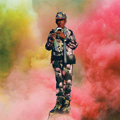 """Album-Cover von New Age Doom & Lee """"Scratch"""" Perry – """"Lee 'Scratch' Perry's Guide To The Universe""""."""